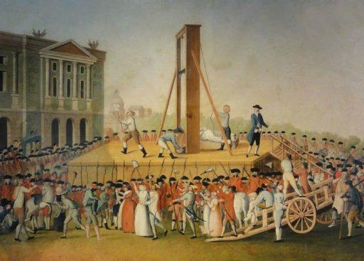 הוצאתה להורג של מארי-אנטואנט בכיכר המהפה (לעתיד כיכר הקונקורד). מקור תמונה: ויקיפדיה