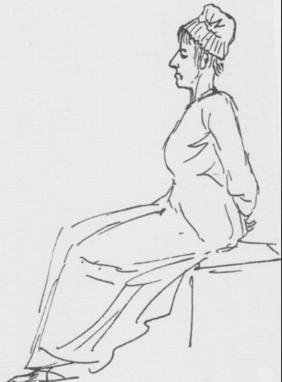 מארי אנטואנט בדרך לגליוטינה. רישום אנטואן לואי דוד. מקור תמונה: ויקיפדיה