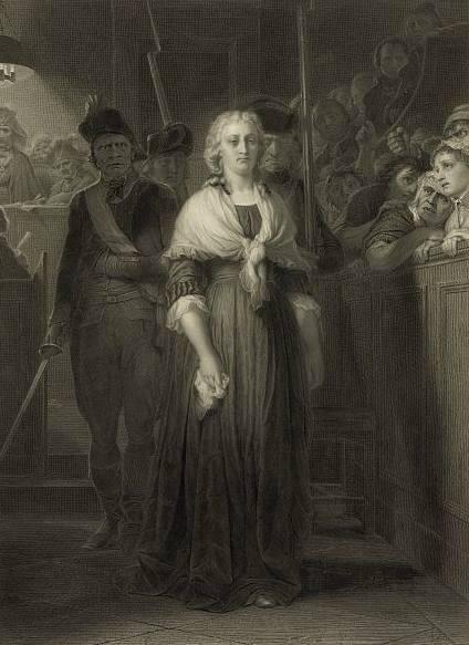 משפטה של מארי-אנטואנט מאת אלפונס פרנסואה. מקור תמונה: ויקיפדיה.