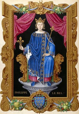 פיליפ ה-4 מלך צרפת. מקור תמונה: ויקיפדיה.