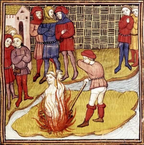מותו של ז'אק דה מולה ראש מסדר הטמפלרים. מקור תמונה: ויקיפדיה