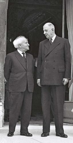 שארל דה גול ודוד בן גוריון. מקור תמונה: ויקיפדיה