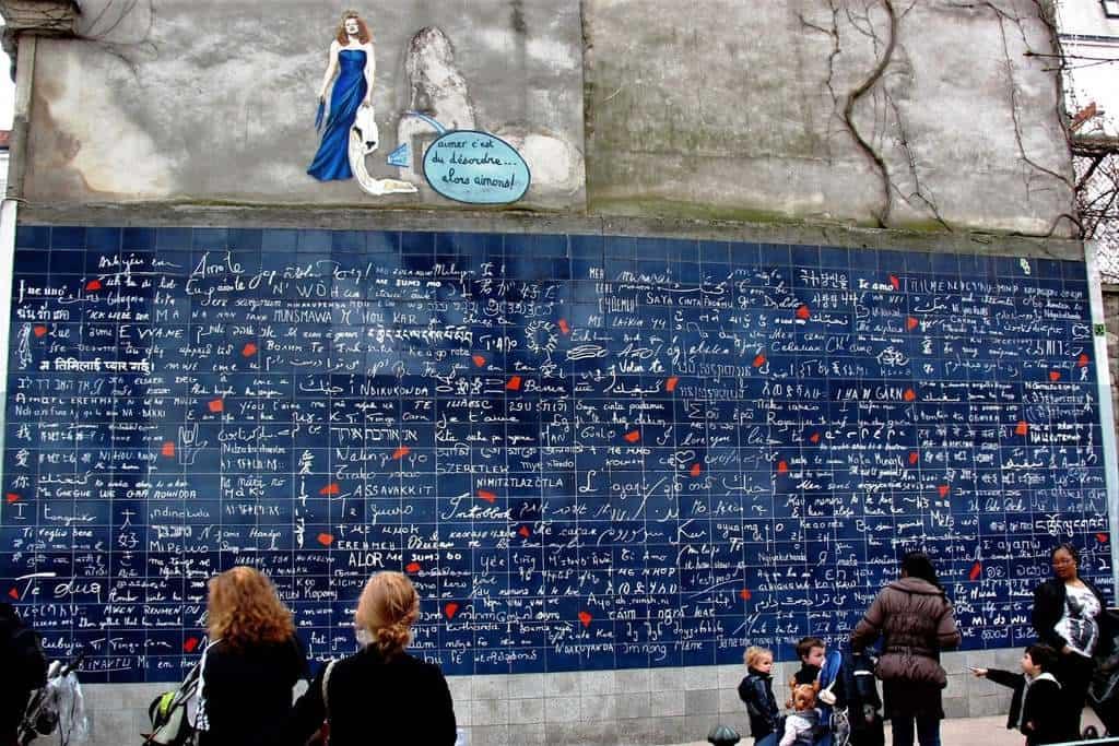 קיר האהבה שבמונמארטר.צילם: יואל תמנליס