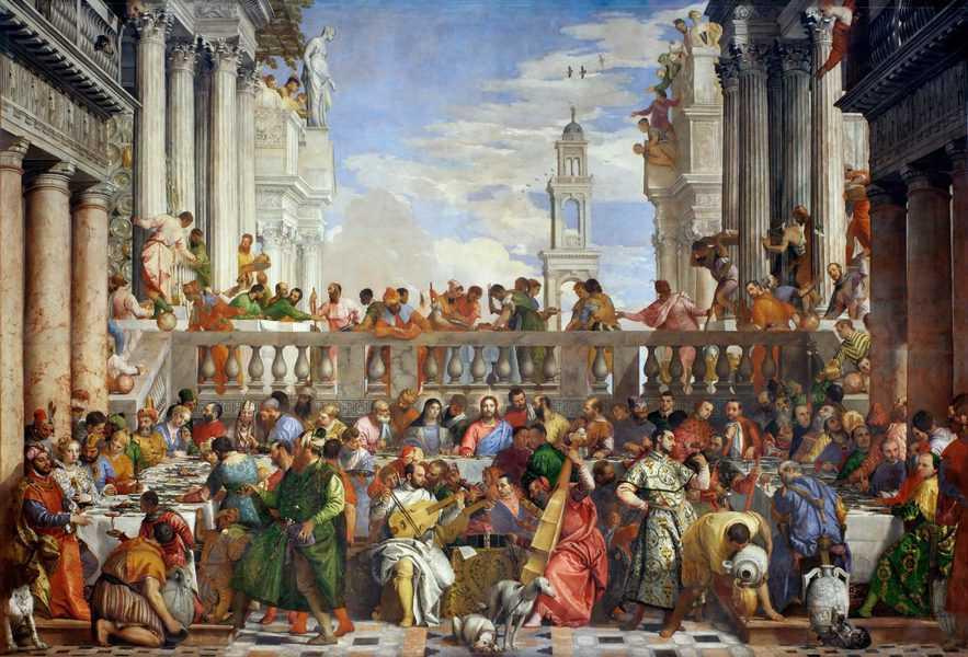 החתונה בקנה מאת פאולו ורונזה. מקור ציור ויקיפדיה.
