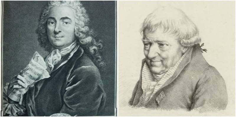 פרנסואה ז'וזף וז'אן מארי לקלייר. המורים לנגינה של האביר דה סן-ז'ורז'. מקור תמונות: ויקיפדיה.
