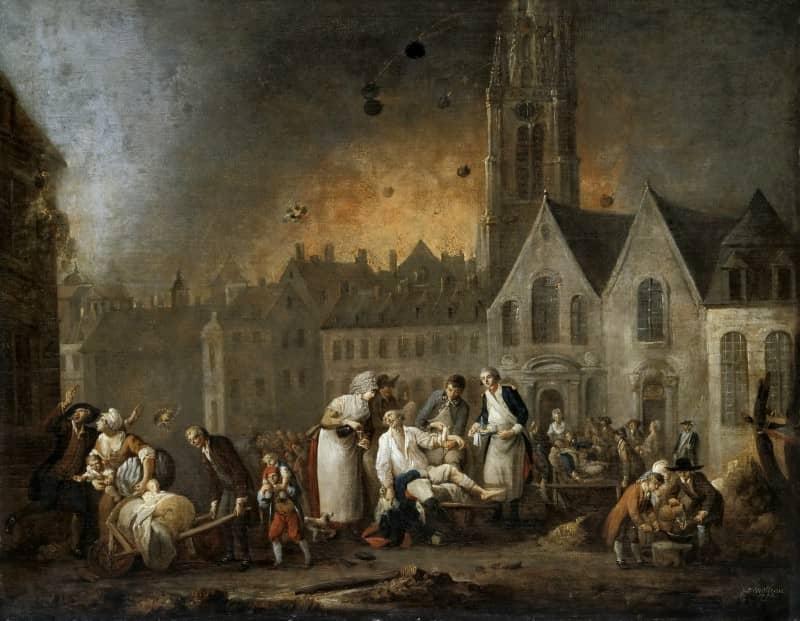 הקרב על העיר ליל (1792). מקור תמונה: ויקיפדיה.