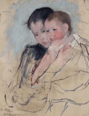 מארי קאסאט, תינוק בזרועות אמו, 1891 בקירוב, שמן על בד, האקדמיה לאמנויות יפות, פילדלפיה