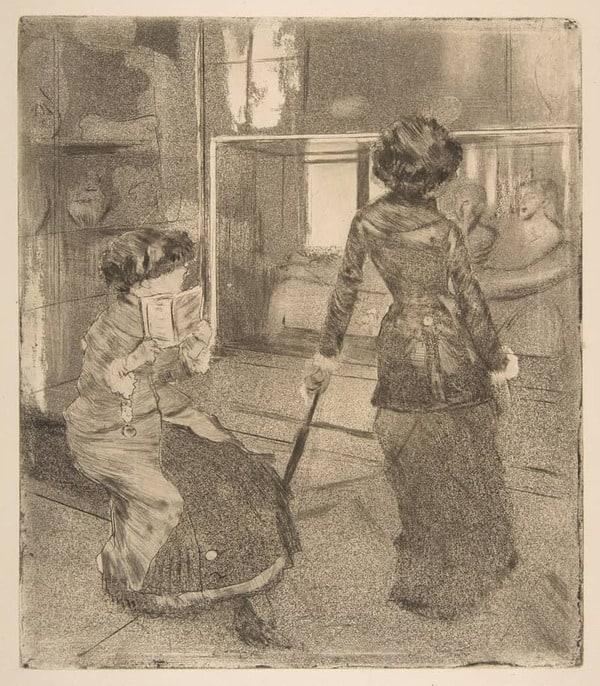 אדגר דגה, מארי קאסט בלובר, 1879-1880, תחריט מטופל, מכון לאמנות שיקגו