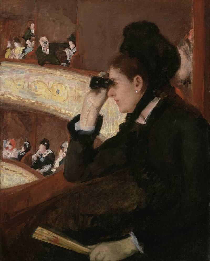 מארי קאסאט, באופרה (הלוגיה), 1878, שמן על בד, מוזיאון בוסטון לאמנות