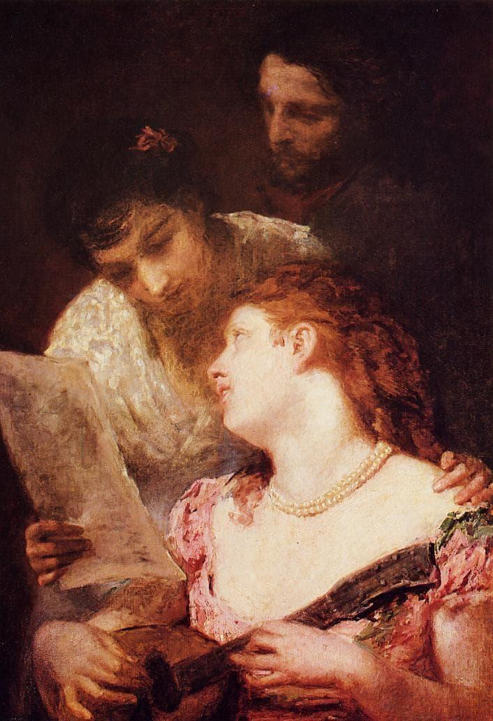 מארי קאסאט, חבורה מוזיקלית, 1874, שמן על בד, פטיט פלה