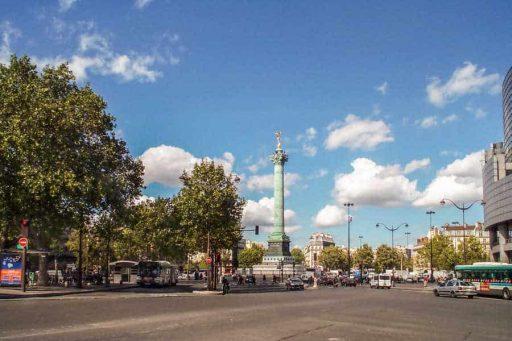 הרובע ה-11 של פריז. כיכר הבסטיליה. צילם: יואל תמנליס