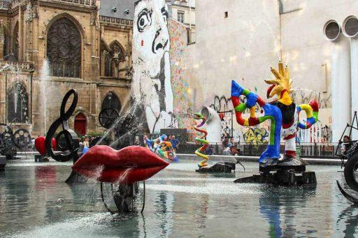 הרובע ה-3 של פריז. מזרקת סטרווינסקי. צילם: יואל תמנליס
