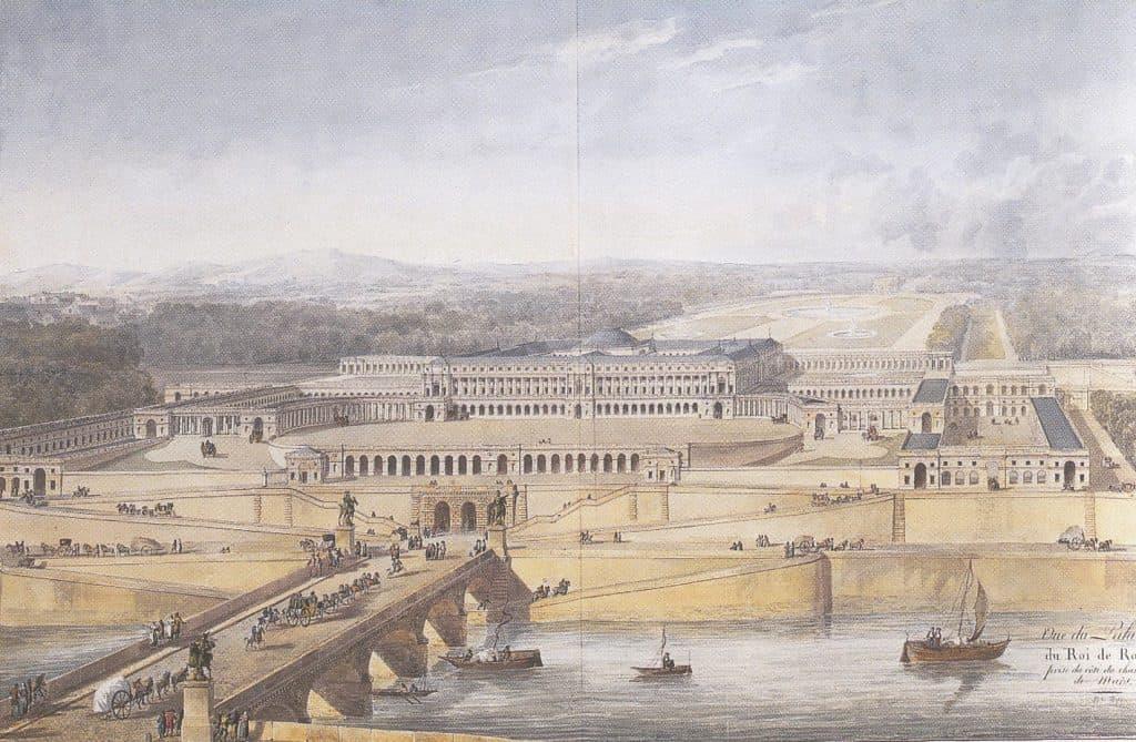 התוכנית של פרסייה ופונטיין לארמון שאיו