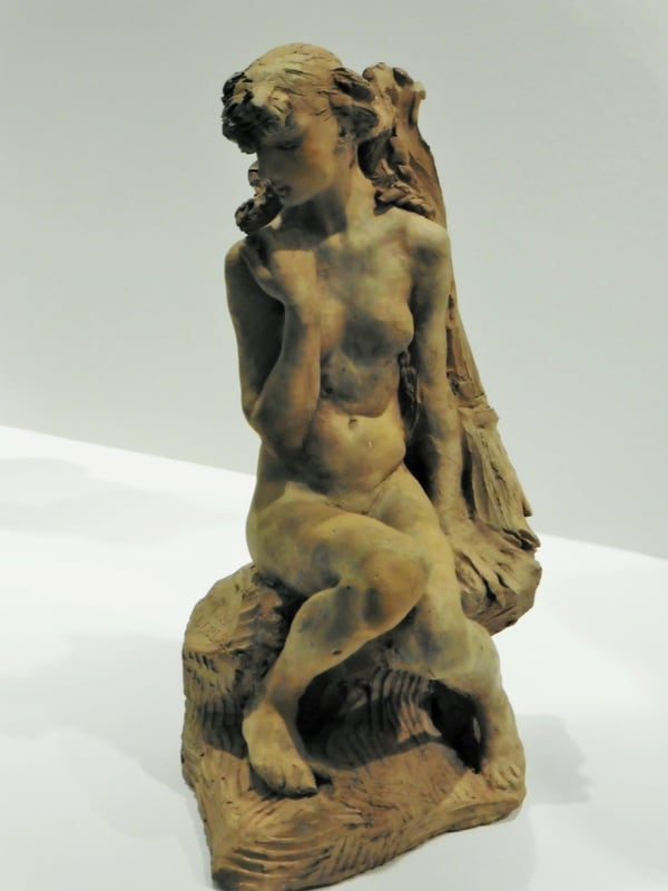 הנערה עם האלומה , La jeune fille à la gerbe 1886, מוזיאון רודן, פריז. מקור תמונה: ויקיפדיה.