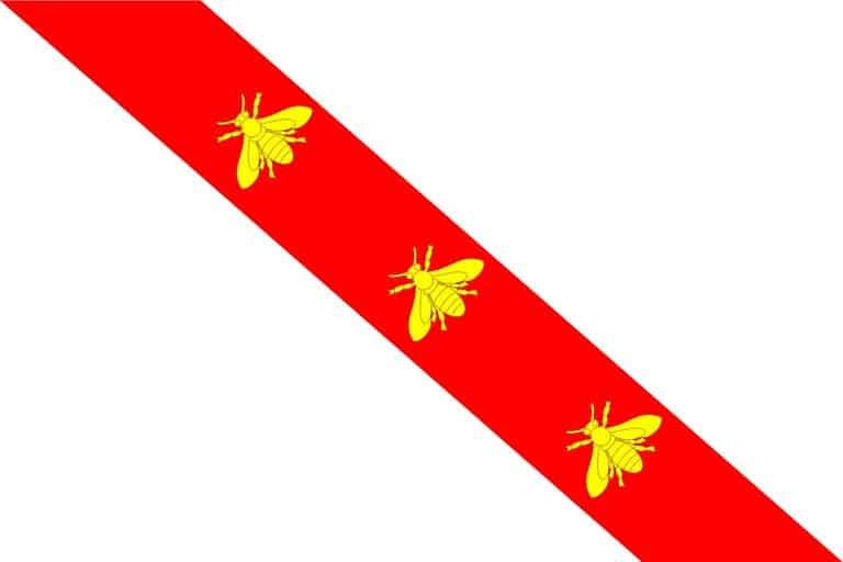 הדגל של האי אלבה מתקופת נפוליאון. מקור תמונה: ויקיפדיה.