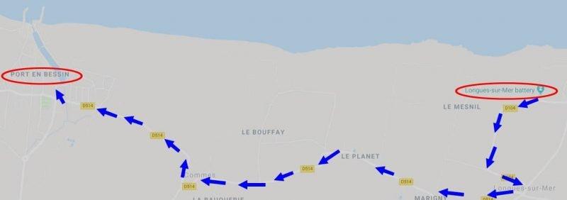 המפה ל Port-en-Bassub-Huppain