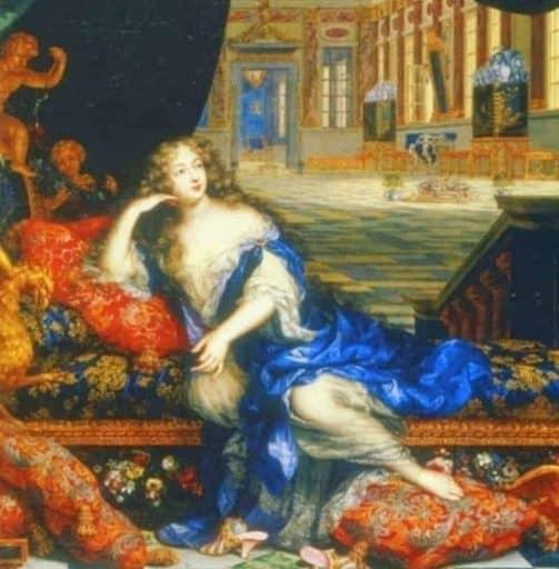 מאדאם דה-מונטספאן בחדר השינה שלה. מאת הצייר אנרי גאסקר.