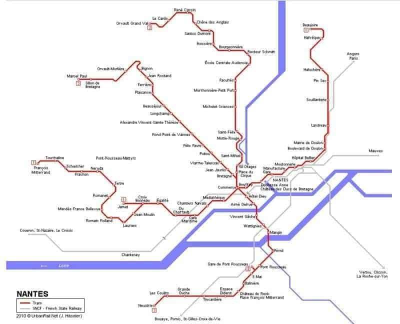 מפת החשמליות של נאנט