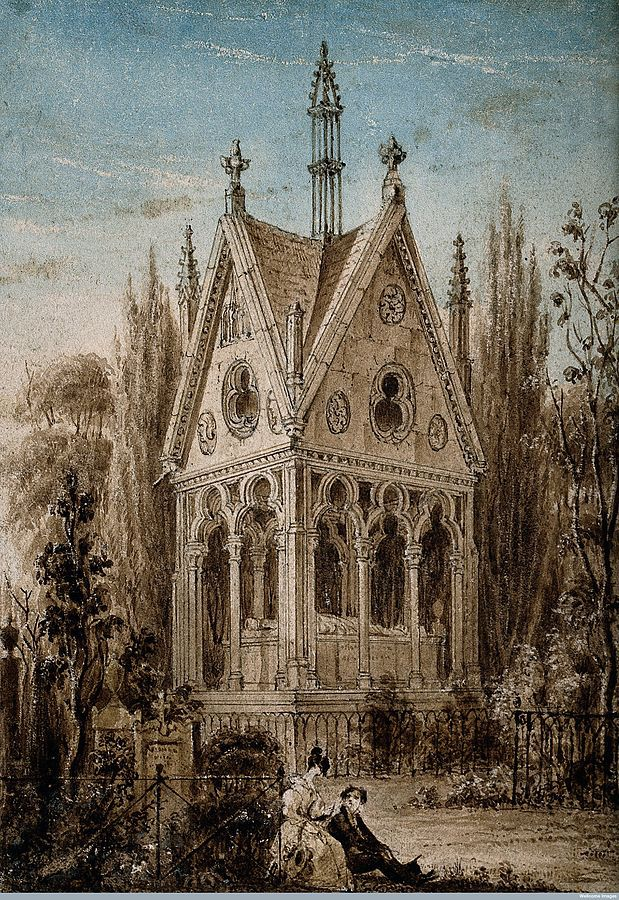 קברם של אבלרד ואלואיז בפרלשז. מקור תמונה: ויקיפדיה.