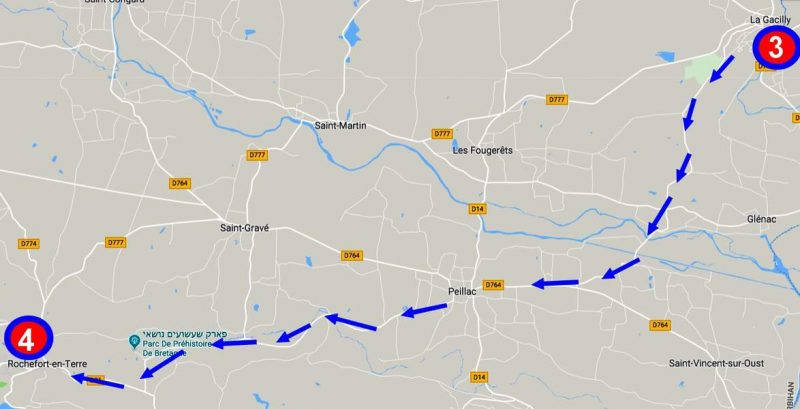 הדרך מ- La gacilly ל- Rochefort en Terre