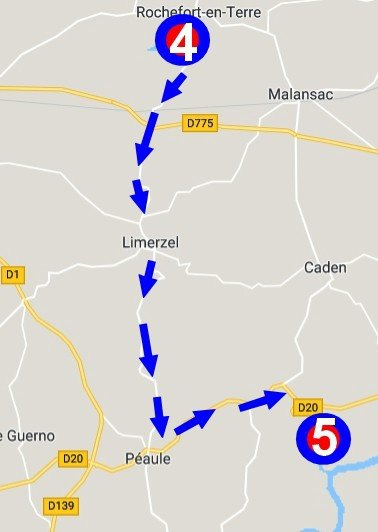 הדרך לשאטו de Lehlec.