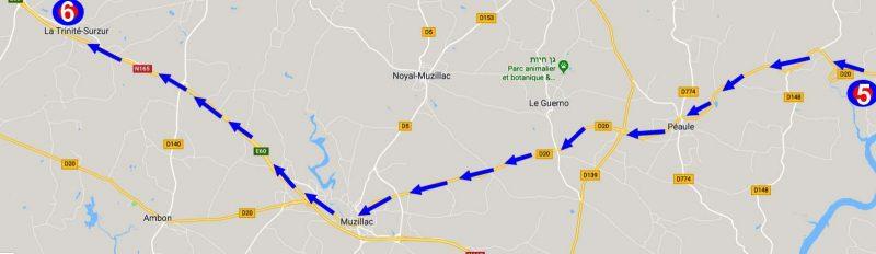 הדרך לשאטו Plessis Josso.