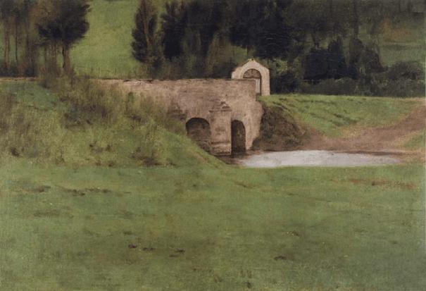 Le pont à Fosset, 1897
