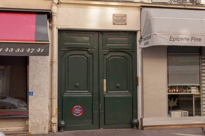 הבניין בו שכן הסטודיו של פוג'יטה.