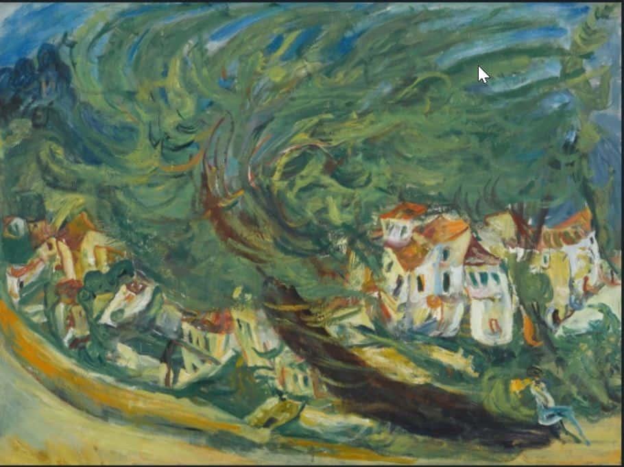 חיים סוטין, עץ שוכב, 1924, מקור תמונה: WikiArt