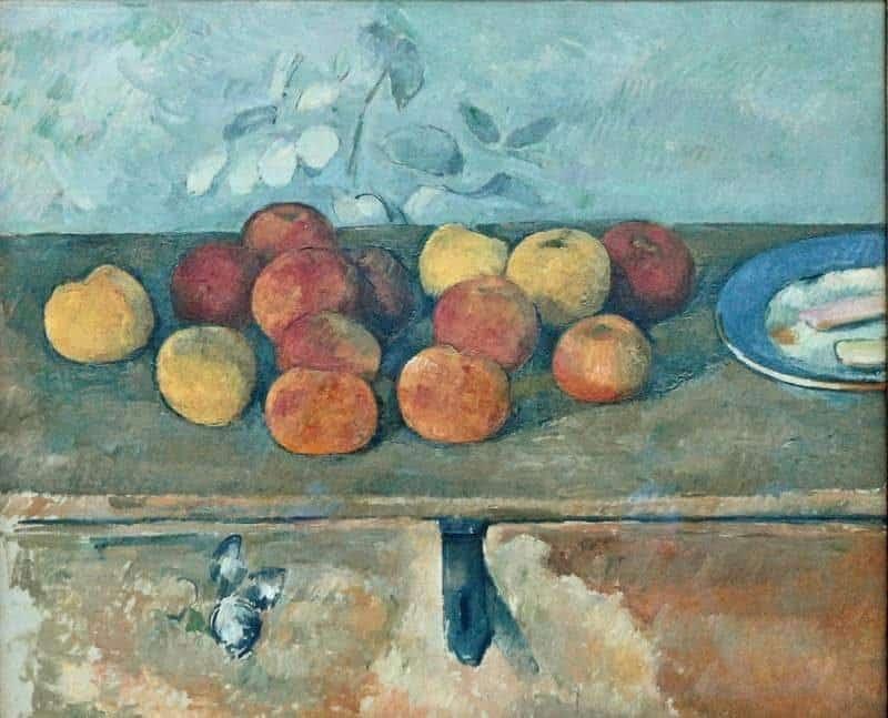 פול סזאן, תפוחים וביסקוויטים, 1890. מקור צילום: FLICKR