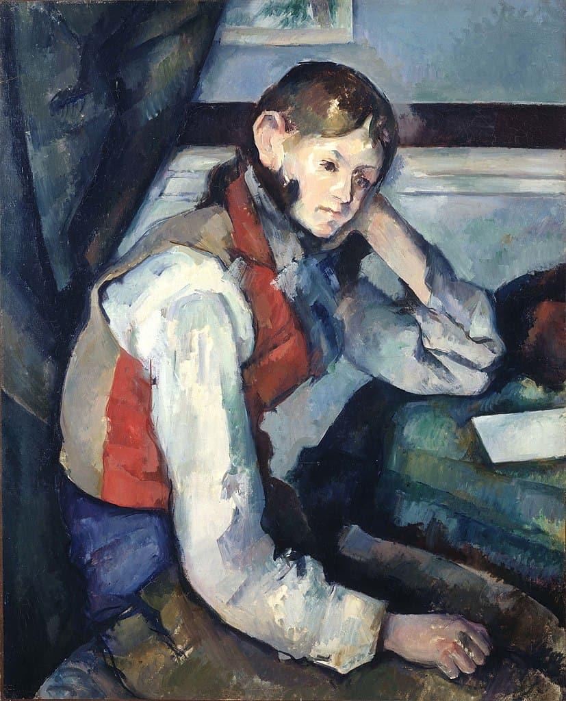 פול סזאן, נער בווסט אדום, 1889-1990. מקור תמונה: ויקיפדיה