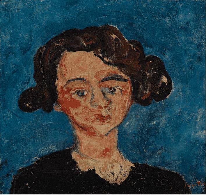חיים סוטין - דיוקן של פולט ז'ורדן משנת 1928. מקור תמונה ויקיפדיה.