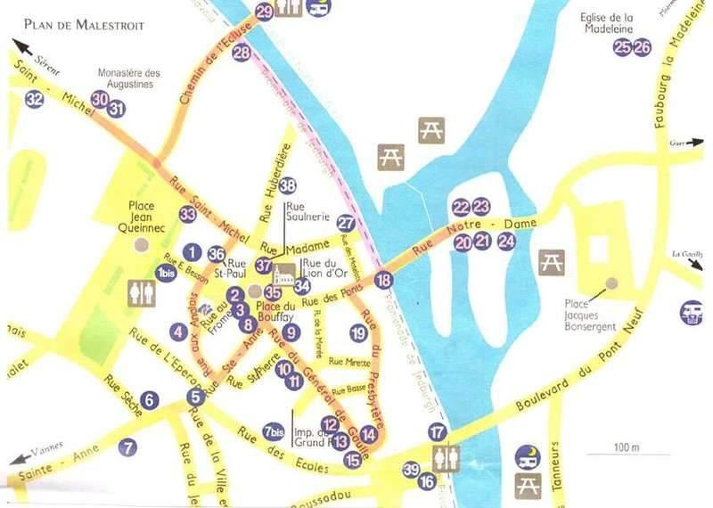 המפה של לשכת התיירות המקומית של מלטרואה.