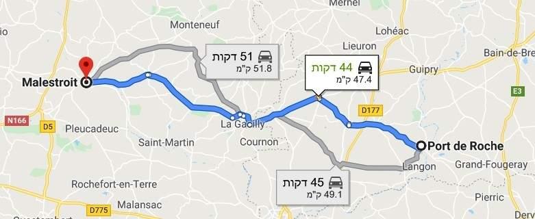 הדרך ממנואר דה לה שוסה למלטרואה.