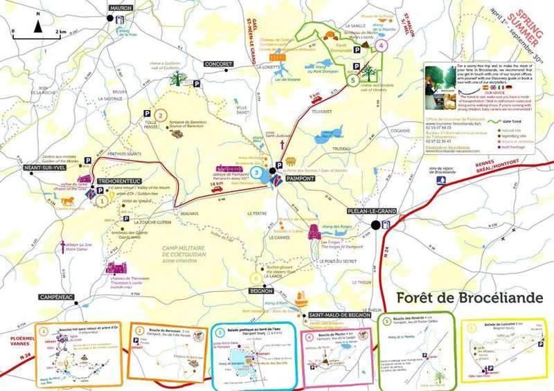 המפה שמקבלים בלשכת התיירות של פמפון.