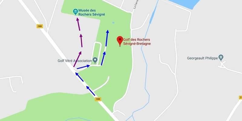 הדרך לטירה של מדאם דה סבינייה.