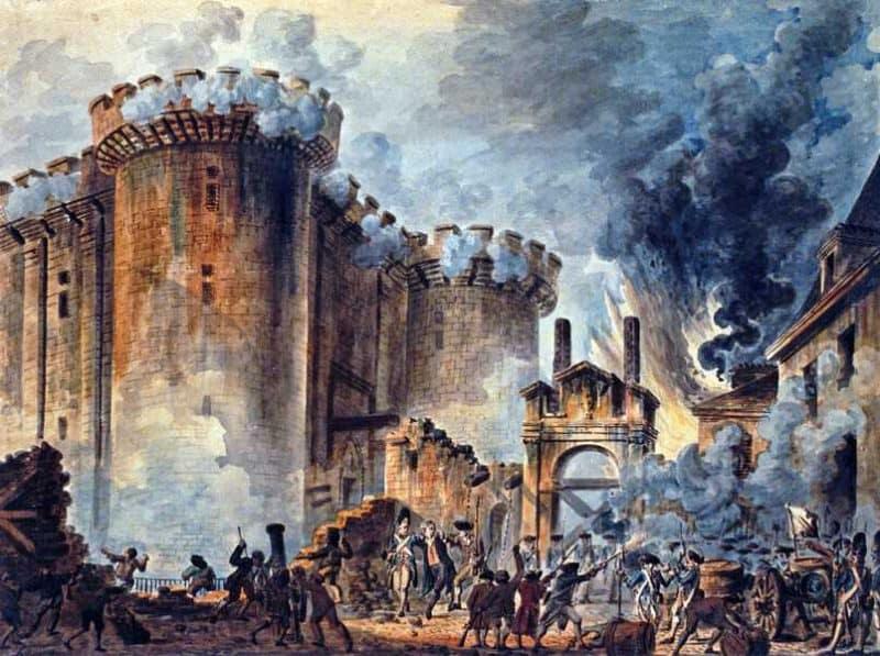כיבוש הבסטילייה. מקור ציור: ויקיפדיה.