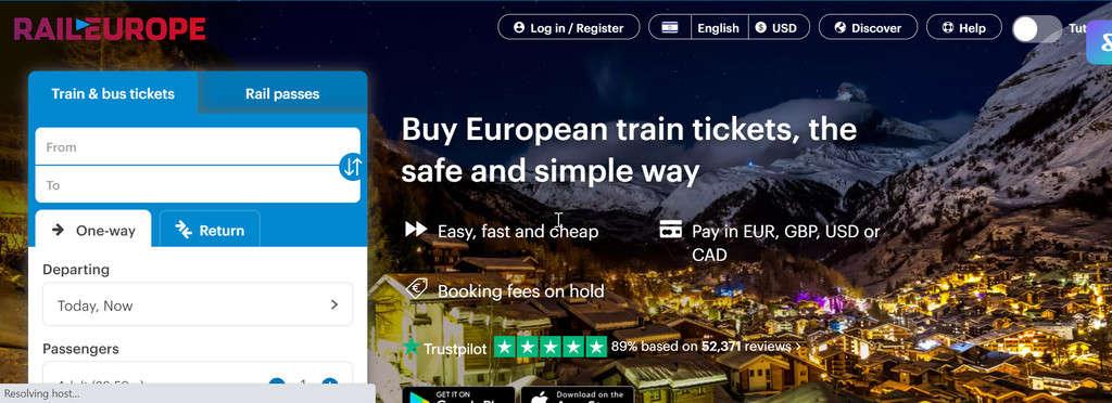אתר Rail Europe