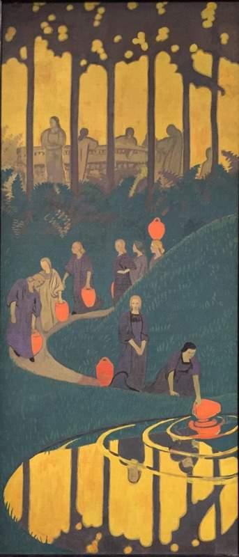 Paul Sérusier, Femmes à la source, 1899. מקור ציור: ויקיפדיהץ