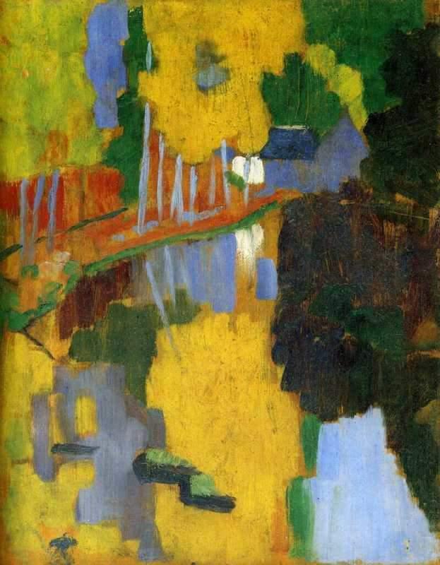 הקמע, נהר האבן בחורשת בואה דמור Le Talisman, l'Aven au Bois d'Amour. מקור ציור: ויקיפדיה.