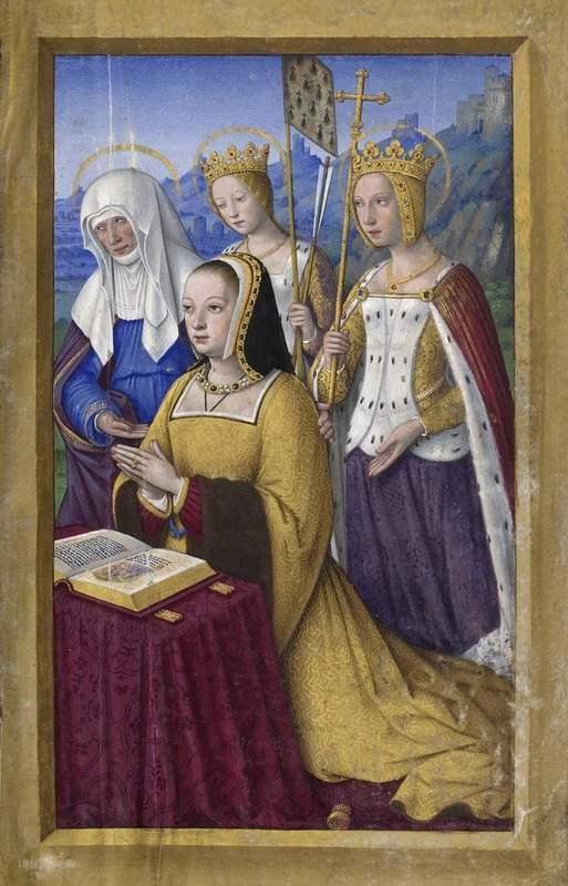 ציור של המלכה אן מברטאן מתוך ספר השעות שלה. מקור ציור: ויקיפדיה.