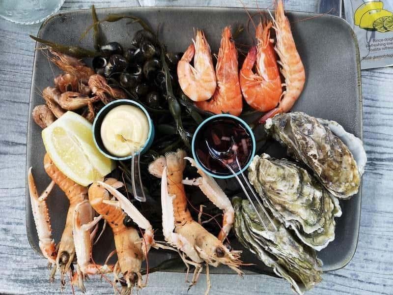 פלטת פירות ים במסעדת lÁtelier Gourmande. צילום: צבי חזנוב