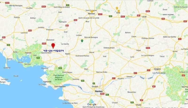 מיקומה של רושפור במפת צרפת
