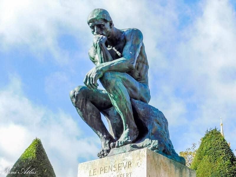 פסל האדם החושב של רודן. צילמה: ניני אטלס.