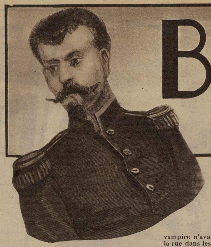 הערפד ממונפרנאס כפי שהוצג בירחון צרפתי שעסק בסיפורי בלשים משנת 1936. מקור תמונה: ויקיפדיה..