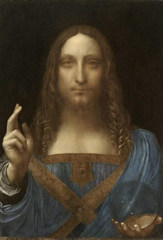 הציור סלבטורה מונדי המשוייך לליאונרדו דה וינצ'י. מקור ציור: ויקיפדיה.