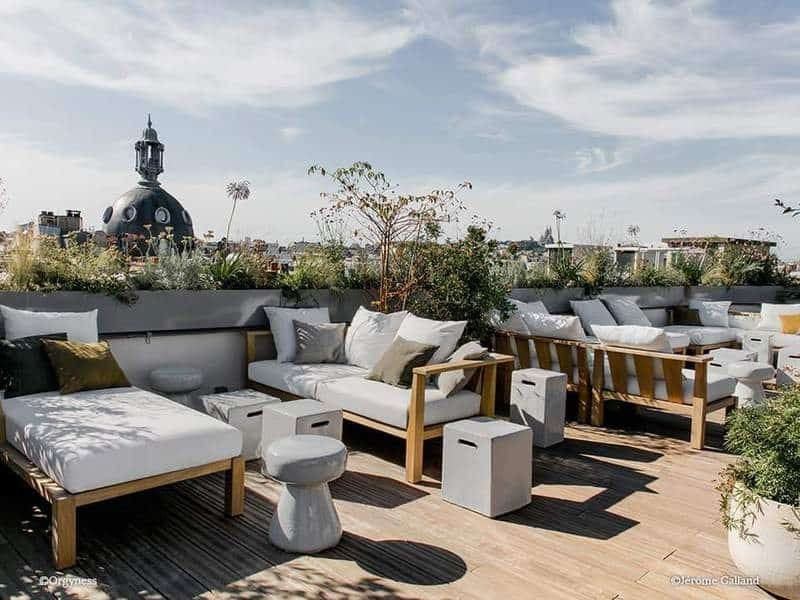 הרוף-טופ של Hotel National Arts et Métiers. צילום: מרים אדרי
