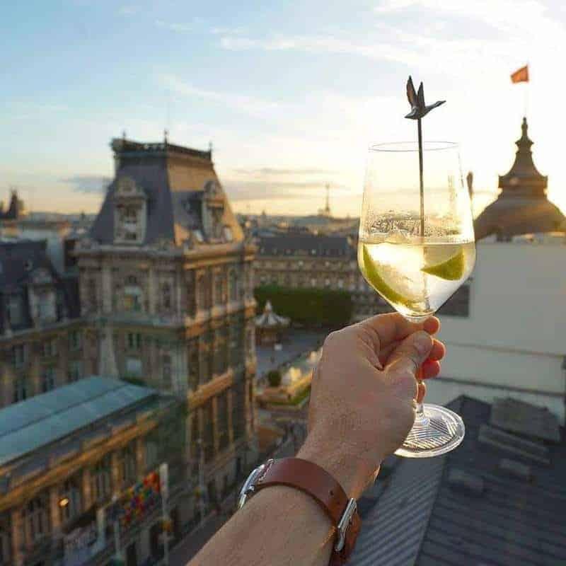הנוף הפריזאי הנשקף מ La Perchoir. צילום: מרים אדרי