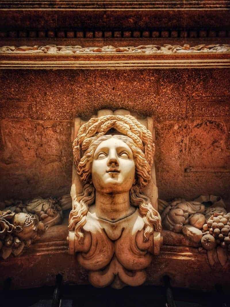 המסקרון מעל השער של פביון ונדום. צילם: צבי חזנוב