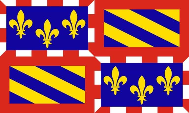הדגל של מחוז בורגונדי (בורגון). מקור: ויקיפדיה